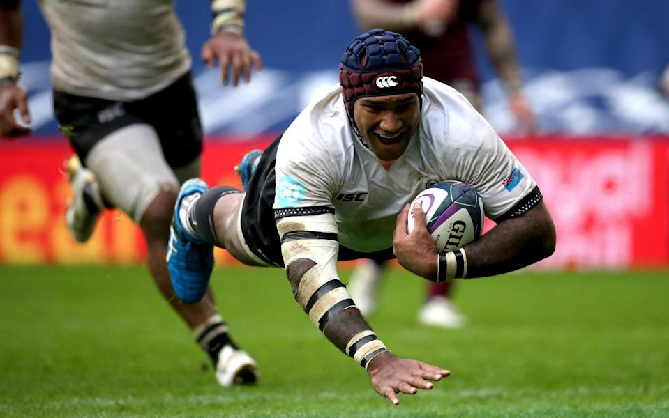 Nemani Nadolo scores Fiji's sixth try of the game - PA