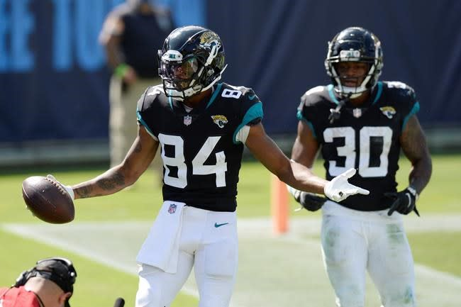 Jaguars WR Cole starts in place of Chark against Dolphins