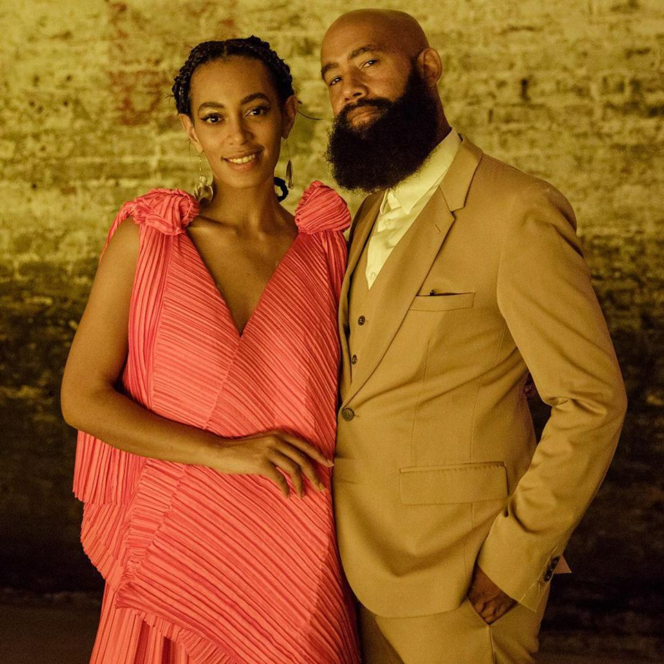 """<p><strong>Age gap: </strong>23 years</p><p>Solange, 31, and her video director husband, 54, seem madly in love. """"To the love of my life, Solange Knowles, [you're] my inspiration,"""" Alan said during the 2012 <a href=""""https://www.bet.com/video/betawards/2012/acceptance/beyonce-alan-ferguson-accept-video-director-of-the-year-award.html"""" rel=""""nofollow noopener"""" target=""""_blank"""" data-ylk=""""slk:BET Awards"""" class=""""link rapid-noclick-resp"""">BET Awards</a>. He also described his wife as """"a woman who will hold you down.""""</p>"""