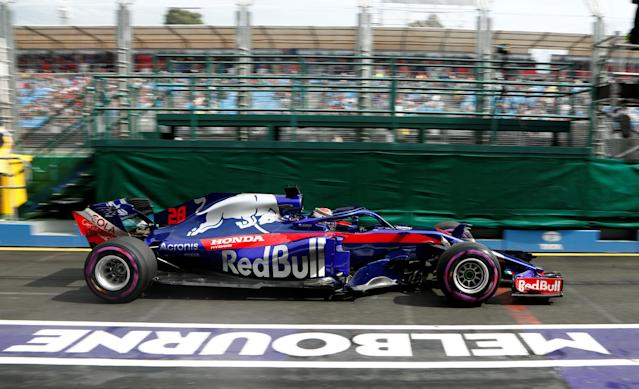 Formula One F1 - Australian Grand Prix - Melbourne Grand Prix Circuit, Melbourne, Australia - March 24, 2018 Toro Rosso's Brendon Hartley in action during practice REUTERS/Brandon Malone