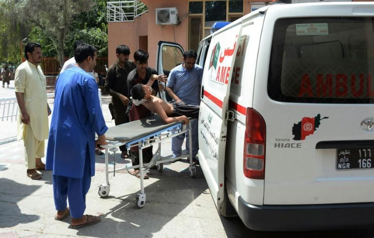 At least 10 people were wounded in the attack on the compound