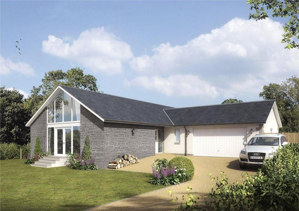 """<p>If you're after a new build home that you can move right into, this stunning property in Finavon, Scotland, could be just the ticket. Situated in the idyllic Angus countryside and with a contemporary layout, highlights include the architect-designed <a href=""""https://www.housebeautiful.com/uk/decorate/kitchen/a35693910/kitchen-flooring/"""" rel=""""nofollow noopener"""" target=""""_blank"""" data-ylk=""""slk:kitchen"""" class=""""link rapid-noclick-resp"""">kitchen</a>, living room and four bedrooms.</p><p><a href=""""https://www.zoopla.co.uk/new-homes/details/57689624/"""" rel=""""nofollow noopener"""" target=""""_blank"""" data-ylk=""""slk:This property is currently on the market for £420,000 with Keller Williams via Zoopla."""" class=""""link rapid-noclick-resp"""">This property is currently on the market for £420,000 with Keller Williams via Zoopla.</a><br></p>"""