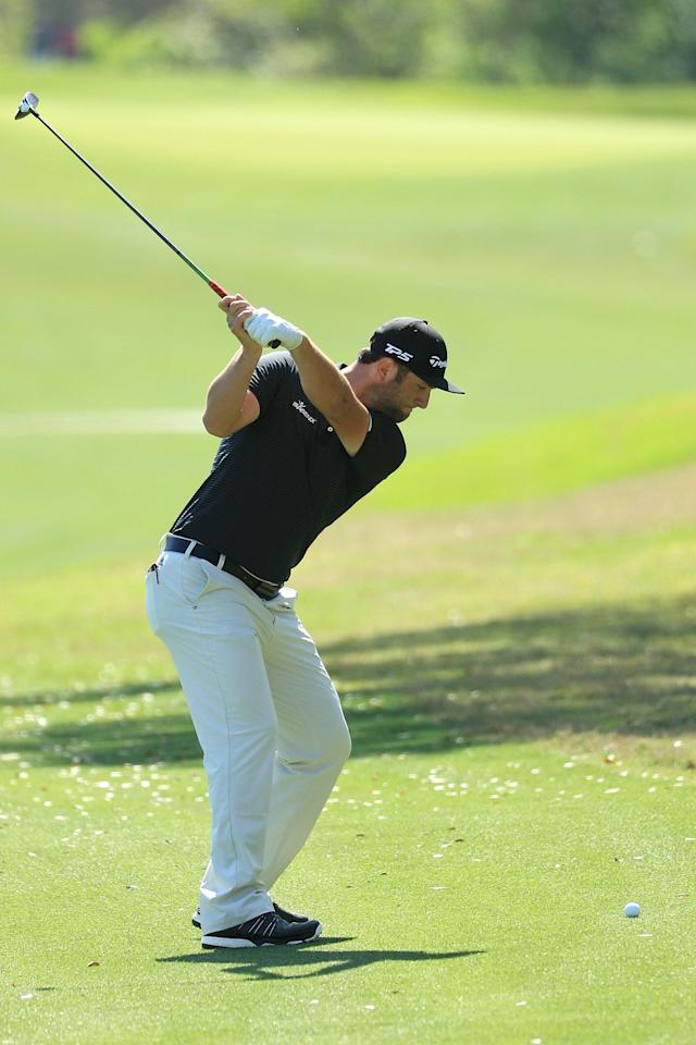 "<h1 class=""title"">World Golf Championships-Dell Match Play - Preview Day 2</h1> <div class=""caption""> AUSTIN, TX - MARCH 21: John Rahm of Spain swing sequence (frame 6 of 15) during a practise round for the WGC Dell Match Play at Austin Country Club on March 21, 2017 in Austin, Texas. (Photo by Richard Heathcote/Getty Images) </div> <cite class=""credit"">Richard Heathcote</cite>"