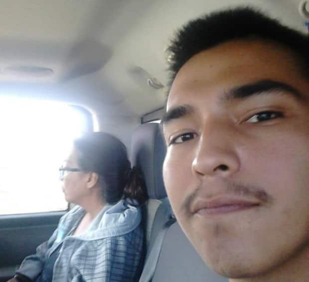 Colton Boushie driving with Debbie Baptiste. The 22-year-old was shot and killed in August 2016.