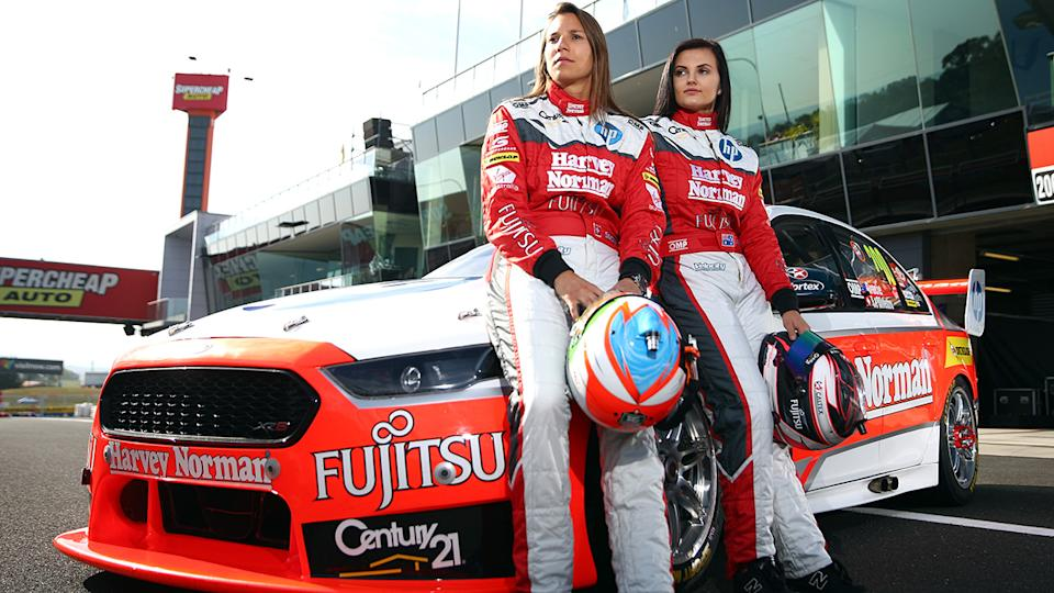 Simona De Silvestro and Renee Gracie, pictured here at Bathurst in 2015.