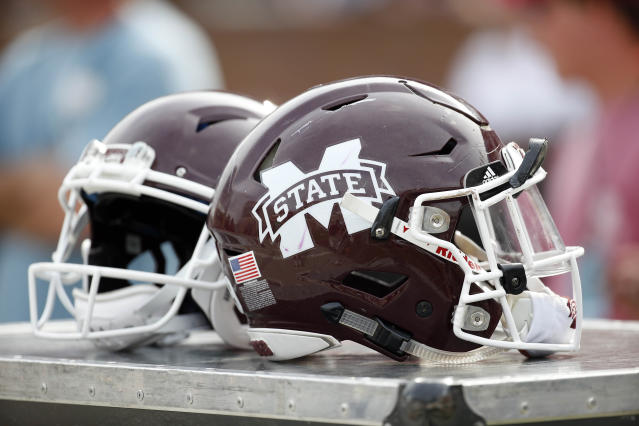 "Mississippi State lineman <a class=""link rapid-noclick-resp"" href=""/ncaaf/players/252075/"" data-ylk=""slk:Michael Story"">Michael Story</a> is suspended indefinitely after allegedly locking his dog in a room for days without food or water. (AP)"