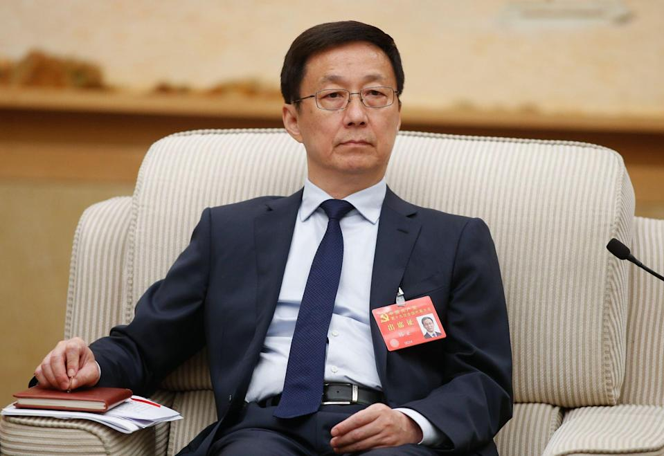 Chinese Vice-Premier Han Zheng. Photo: EPA-EFE