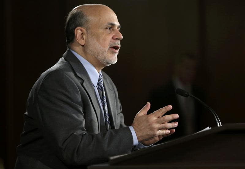 US Federal Reserve Board Chairman Bernanke addresses news conference in Washington