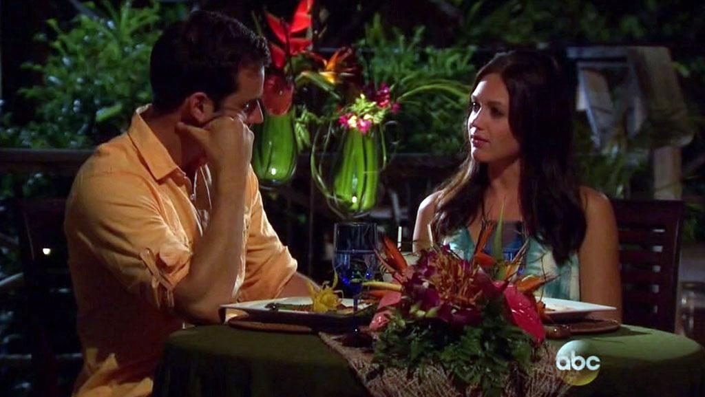 "Chris and Desiree in ABC's ""The Bachelorette."""