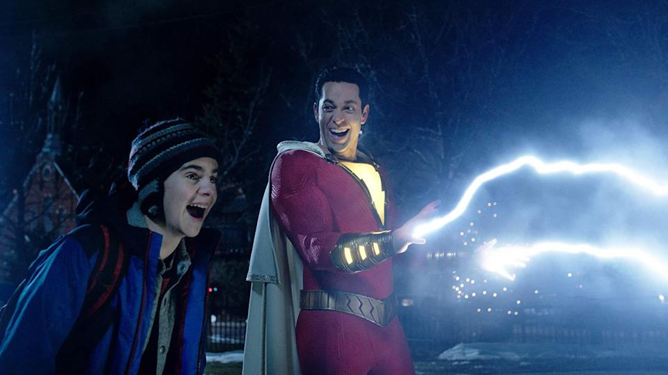 Shazam electrifies an off-camera elephant. Probably. (credit: Warner Brothers)