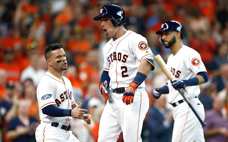 80437e09db1 The Houston Astros won Game 1 of the ALDS with four homers and a strong  outing