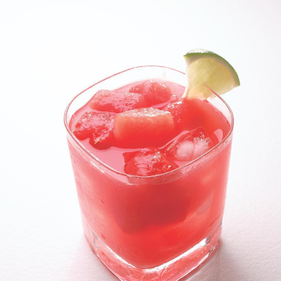 <p>This pretty pink cocktail would be perfect for a bridal shower luncheon. Any leftover pureed juice is refreshing on its own.</p>