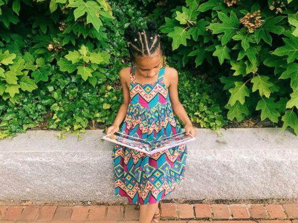 PHOTO: The daughter of Ashley Marshall, owner of the blog, Mommyweek.com, reads a book in preparation for back-to-school season. (Mommyweek.com)