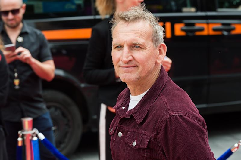 LONDON, UNITED KINGDOM - JUNE 16: Christopher Eccleston arrives for the European film premiere of 'Toy Story 4' at Odeon Luxe, Leicester Square on 16 June, 2019 in London, England (Photo credit should read Wiktor Szymanowicz / Barcroft Media via Getty Images)