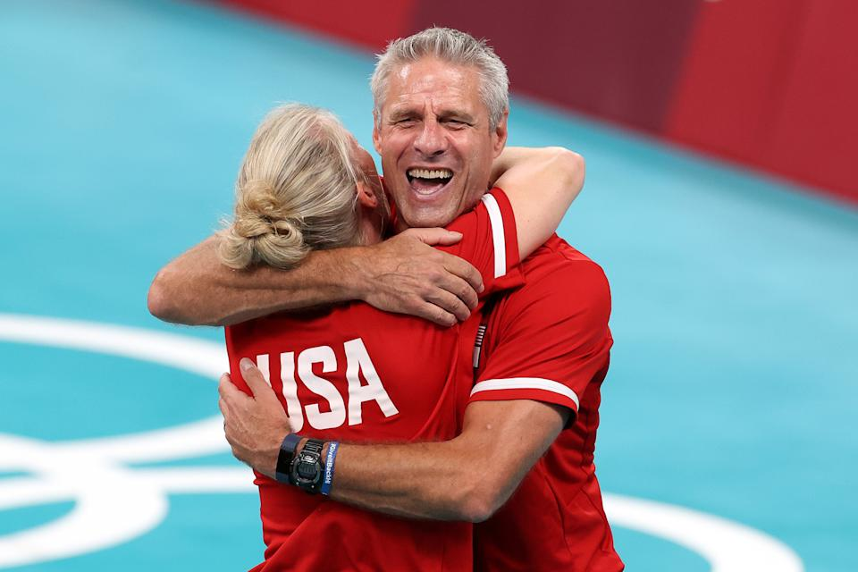 Head coach Karch Kiraly helped lead USA women's volleyball to the top of the Olympic podium at long last. (Photo by Phil Walter/Getty Images)