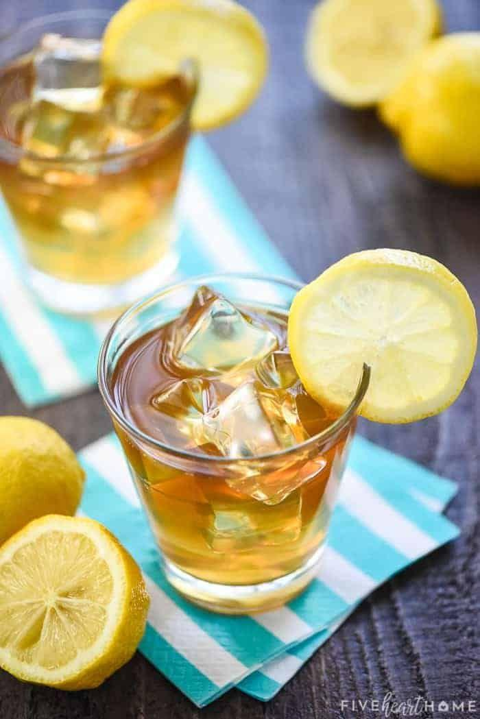 """<p>Whip up this sweet summer sipper with just two ingredients: lemonade and sweet tea vodka. </p><p>Get the recipe at <a href=""""https://www.fivehearthome.com/boozy-arnold-palmer-drink/"""" rel=""""nofollow noopener"""" target=""""_blank"""" data-ylk=""""slk:Five Heart Home"""" class=""""link rapid-noclick-resp"""">Five Heart Home</a>. </p>"""
