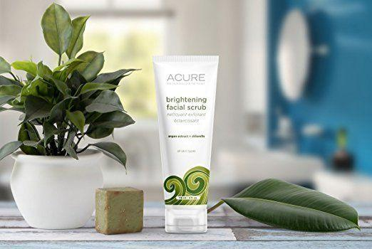 """Candidly, this scrub doesn't smell great, but it's truly amazing at brightening skin, removing impurities and washing away dead skin cells. It's a super fine scrub, soyou really feel that <a href=""""https://www.amazon.com/ACURE-Brightening-Facial-Scrub-Ounce/dp/B003Z4OD24?th=1"""" target=""""_blank"""">your skin is stimulated</a> after each use."""