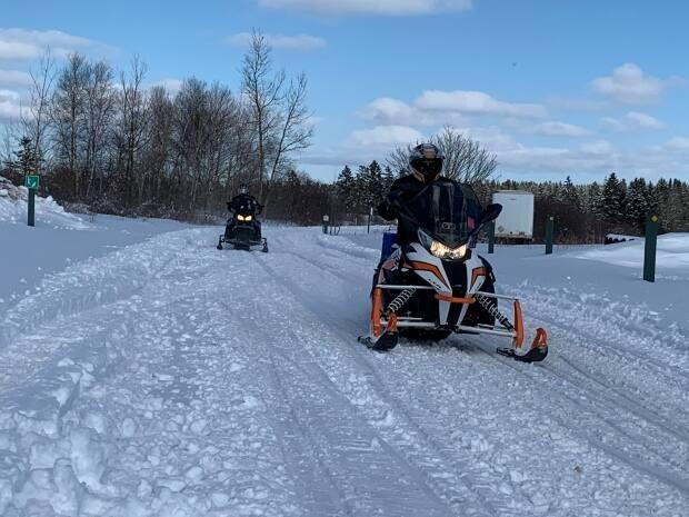 The head of the Kensington Area Snowmobiling Association says he has posted to his members on social media about staying off sidewalks and roads.  (Tony Davis/CBC - image credit)