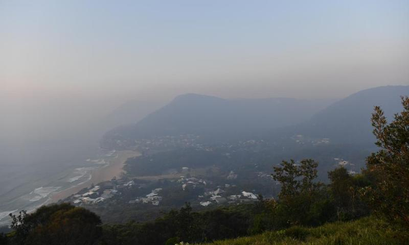 Thick smoke blanketed the Illawarra region in November, 2019 from the Gospers Mountain fire north-west of Sydney.