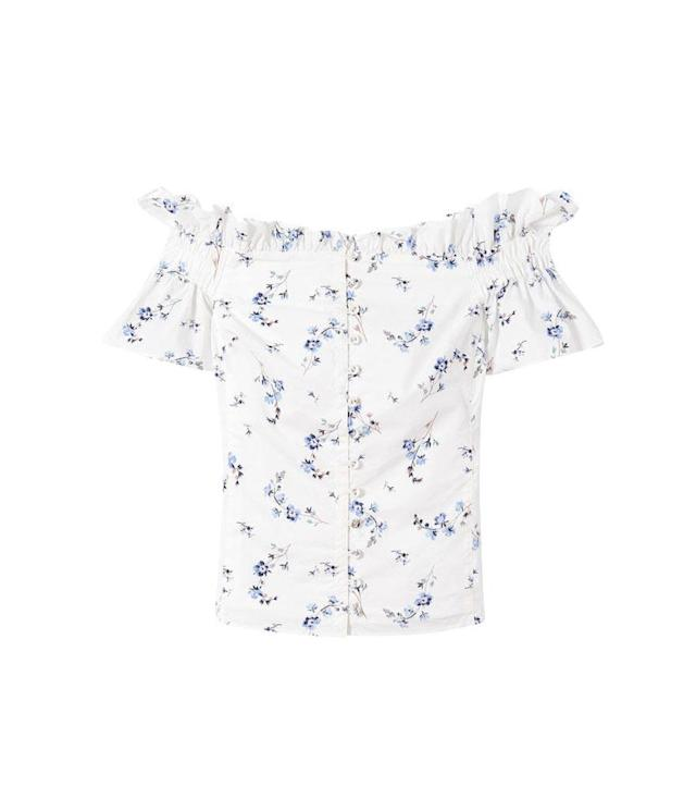 "<p>Off-the-shoulder Francine floral top, $250, <a href=""https://www.rebeccataylor.com/off-the-shoulder-francine-floral-top/318951B534.html?dwvar_318951B534_color=SNOWCO&cgid=#q=off%2Bthe%2Bshoulder%2Btop&lang=default&start=1"" rel=""nofollow noopener"" target=""_blank"" data-ylk=""slk:rebeccataylor.com"" class=""link rapid-noclick-resp"">rebeccataylor.com</a><br><br></p>"
