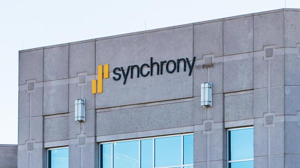 Charlotte, NC, 24 Nov 2019: Synchrony Bank customer service call center offices on Ballantyne Commons Parkway in Charlotte.
