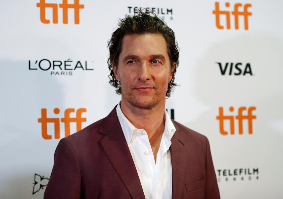 Actor Matthew McConaughey arrives for the world premiere of White Boy Rick at the Toronto International Film Festival (TIFF) in Toronto, Canada, September 7, 2018. REUTERS/Mario Anzouni