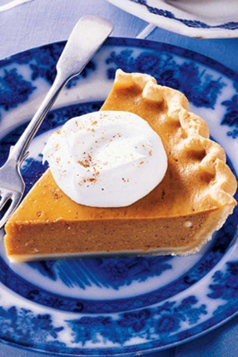 "<p>Sure, Christmas might be the official eggnog holiday, but who says you can't start the holiday season a little bit early by incorporating eggnog into Thanksgiving? By mixing it with pumpkin pie, the most traditional of all Thanksgiving desserts, it'll feel right at home for this holiday. </p><p><strong><em><a href=""https://www.womansday.com/food-recipes/food-drinks/recipes/a14842/easy-eggnog-pumpkin-pie-874/"" rel=""nofollow noopener"" target=""_blank"" data-ylk=""slk:Get the Easy Eggnog Pumpkin Pie recipe."" class=""link rapid-noclick-resp"">Get the Easy Eggnog Pumpkin Pie recipe. </a></em></strong></p>"