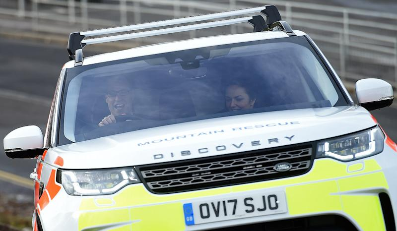 Prince William goes driving