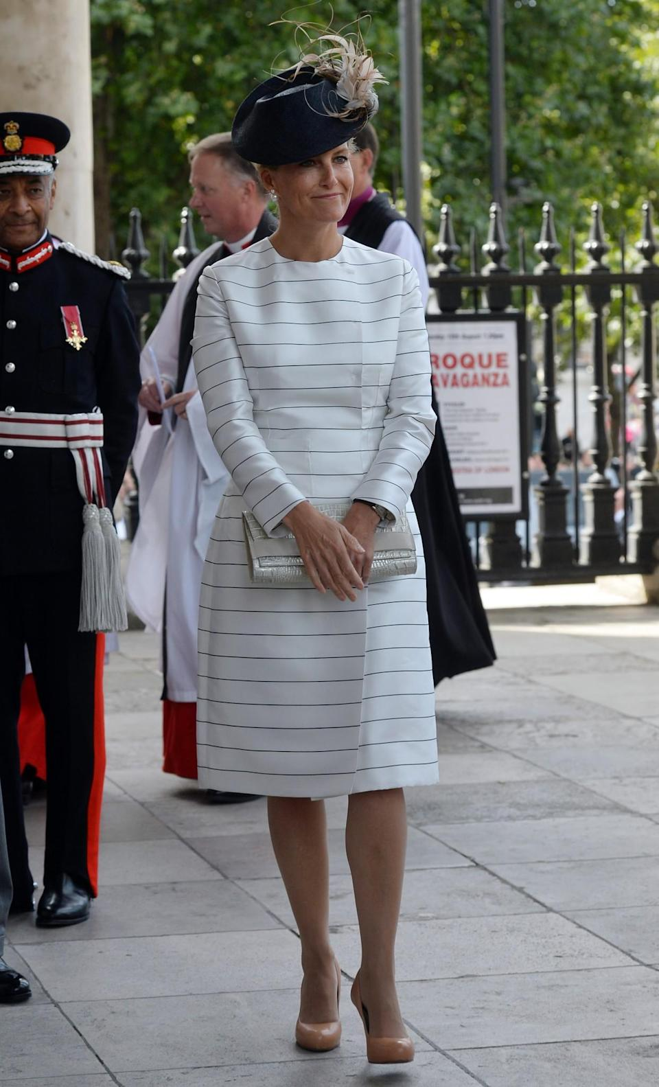 <p>Working minimalist stripes in London, August 2015 [Photo: PA] </p>