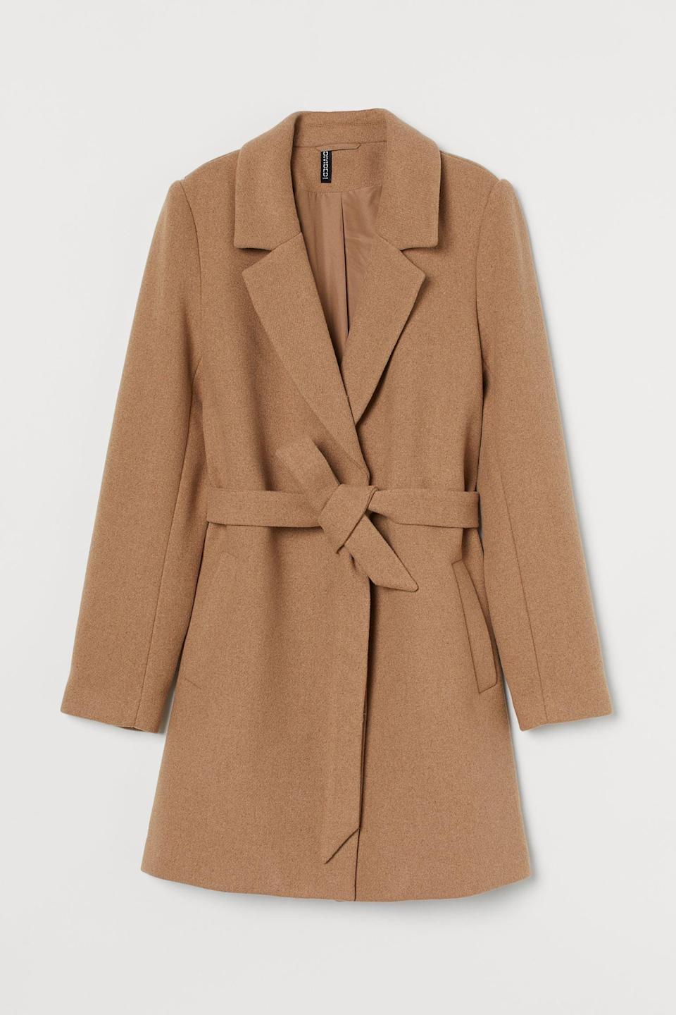 <p>This timeless <span>Wool-blend Coat</span> ($56, originally $70) is a good deal.</p>