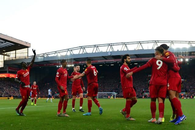 Liverpool have won all but one Premier League game this season (Anthony Devlin/PA)