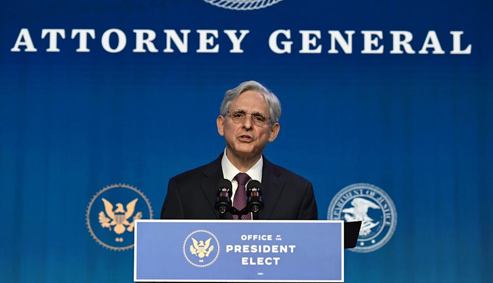 """Attorney General Merrick Garland pledged to """"ensure that we protect every qualified American seeking to participate in our democracy."""" (Photo: JIM WATSON via Getty Images)"""