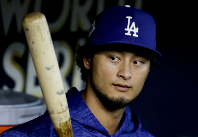 Free agent Yu Darvish met with the Cubs on Monday, and he left his interpreter at home. (AP Photo)