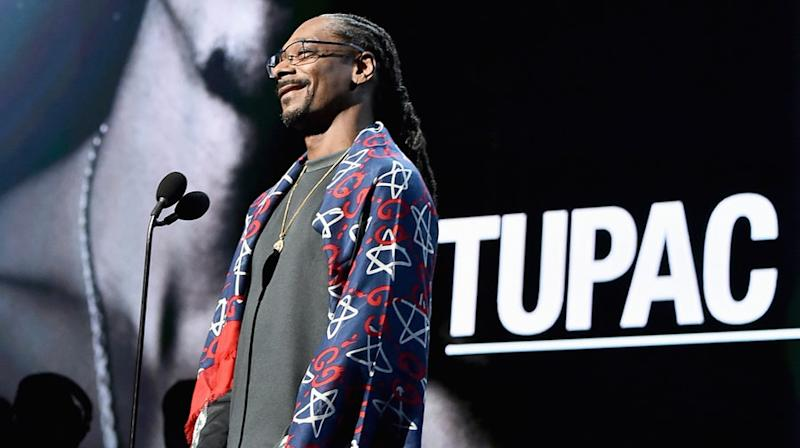 Watch Snoop Dogg's Emotional Acceptance Speech on Behalf of Tupac Shakur