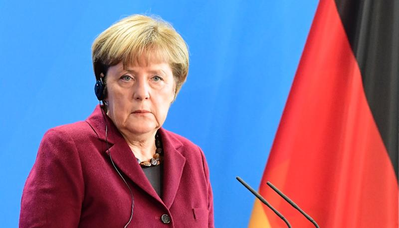"""German Chancellor Angela Merkel said that attacks orchestrated by Russia """"could also play a role"""" in Germany's election campaign next year (AFP Photo/Tobias Schwarz)"""