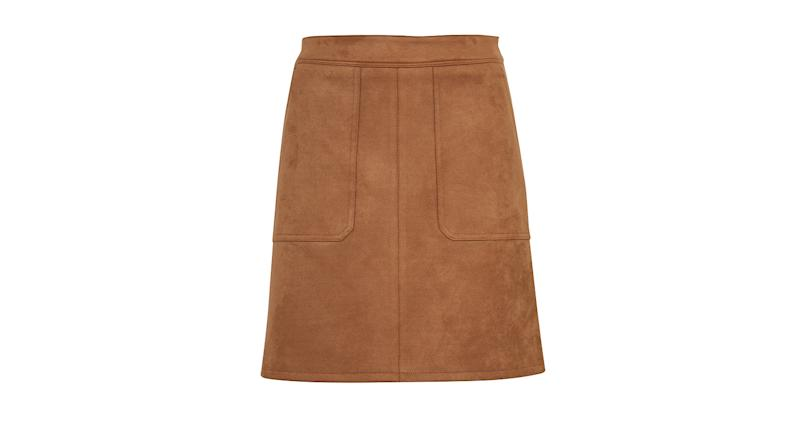 Suedette Mini A-Line Skirt