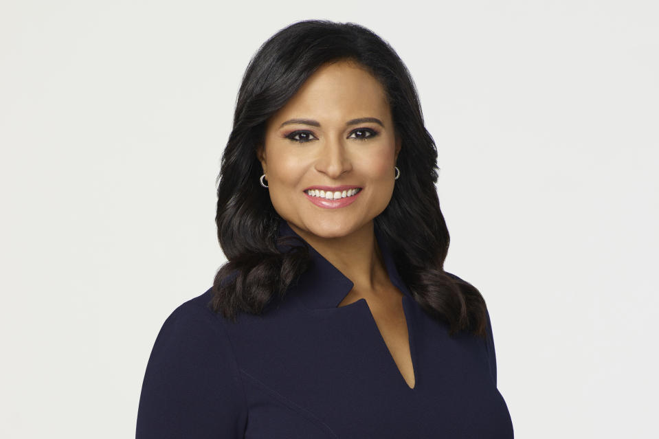 This image provided by NBC News shows NBC News White House correspondent Kristen Welker. On Thursday, Oct. 22, 2020, Welker is scheduled to moderate the second and last Presidential debate between President Donald Trump and Democratic presidential candidate former Vice President Joe Biden. (NBC News via AP)