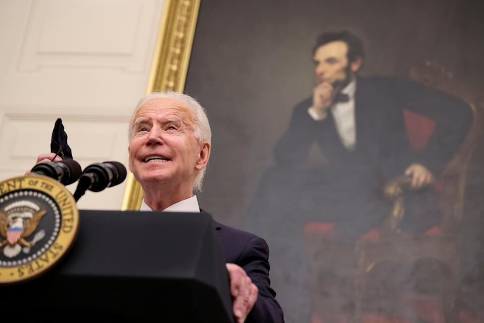 A boost of £190bn would be akin to the $1.9tn stimulus injection tabled by newly-elected US president Joe Biden, which is equivalent to 8.9% of the value of the US economy. Photo: Jonathan Ernst/Reuters
