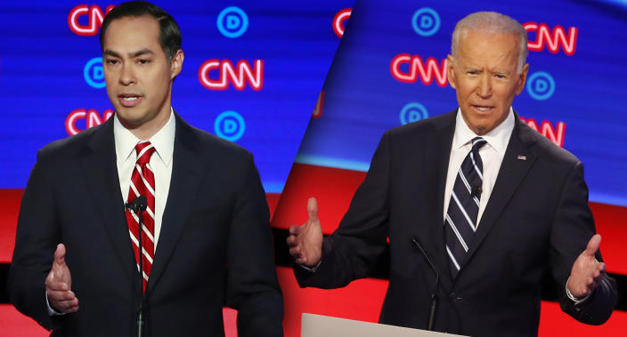 Julian Castro and Joe Biden