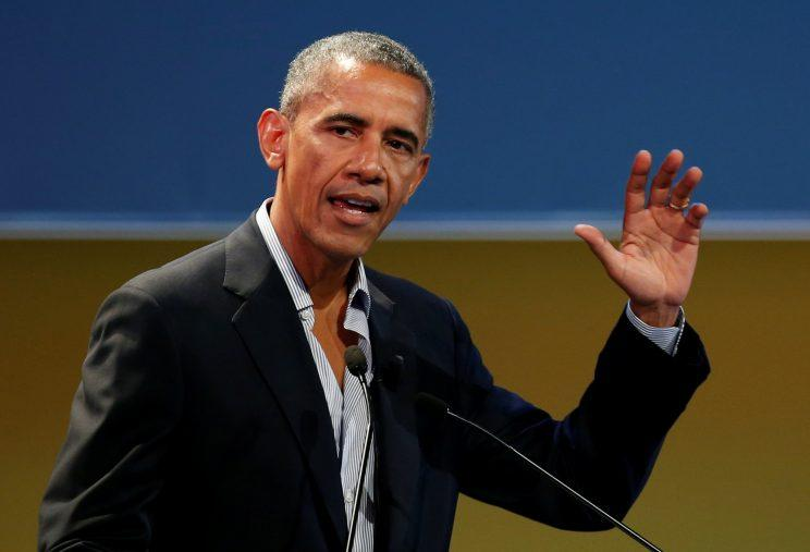 Former President Barack Obama at the Global Food Innovation Summit in Milan, Italy, on Tuesday