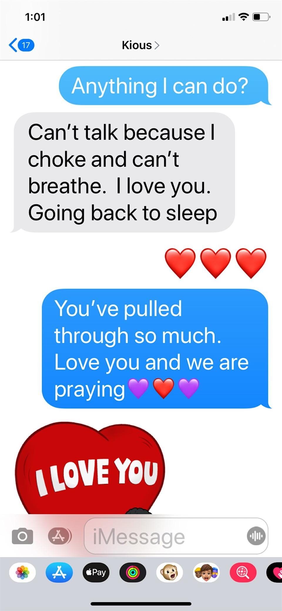 Marya Sherron shared the last text messages she received from her brother before he died. (Image via TODAY).