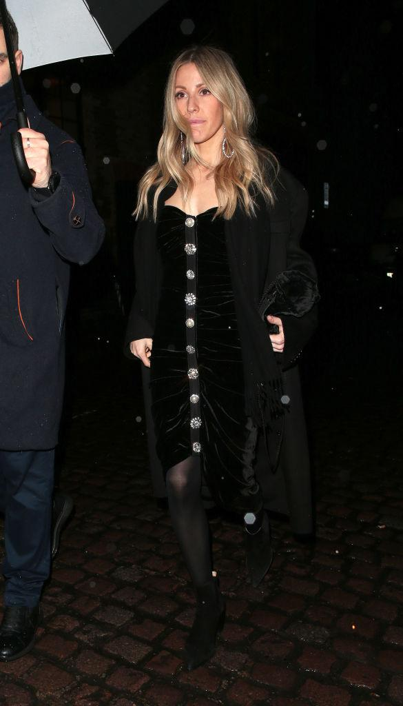 Ellie Goulding seen attending Princess Beatrice's engagement party at Chiltern Firehouse at Chiltern Firehouse on 18 December 2019 in London.