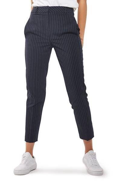 "Get them at <a href=""https://shop.nordstrom.com/s/topshop-cut-about-pinstripe-cigarette-trousers/4650506?origin=keywordsearch-personalizedsort&fashioncolor=NAVY%20BLUE"" target=""_blank"">Nordstrom</a>, $55."