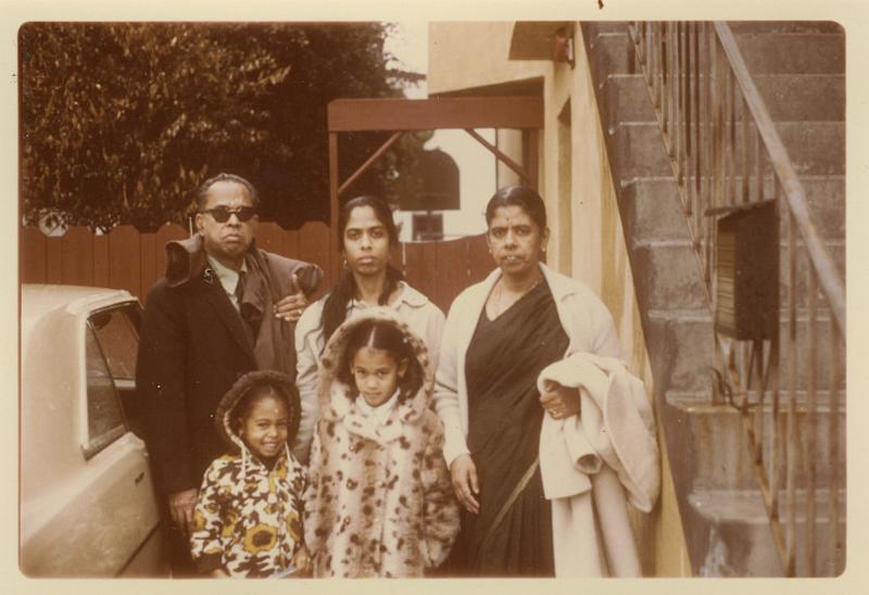 Kamala Harris with her mother Shyamala, center, her sister Maya, bottom left, and her maternal grandparents, P.V. and Rajam Gopalan. (Photo: courtesy of Kamala Harris)