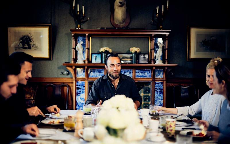 Host James Middleton can be seen dining with guests at the estate's formal dining room. | Courtesy of The Glen Affric Estate