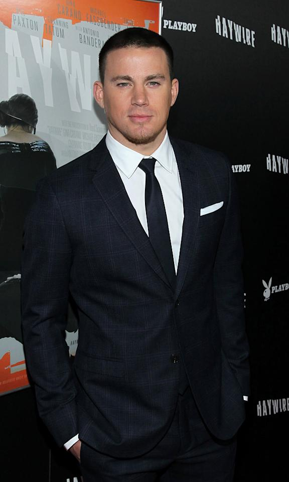 "<a href=""http://movies.yahoo.com/movie/contributor/1808597021"">Channing Tatum</a> at the Los Angeles premiere of <a href=""http://movies.yahoo.com/movie/1810215399/info"">Haywire</a> on January 6, 2012."