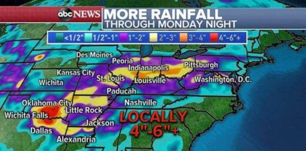 PHOTO: Heavy rainfall is likely in Oklahoma over the next few days. (ABC News)