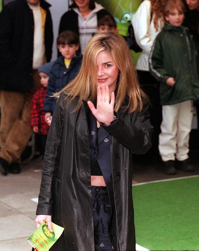 Gail Porter attends the premiere of the Walt Disney film A Bug's Life in London.
