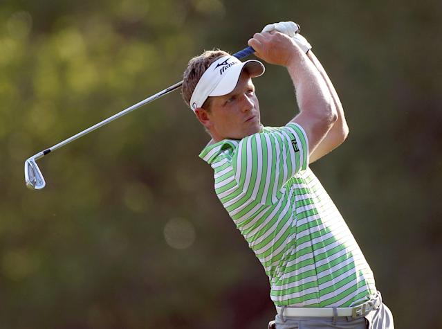 PALM HARBOR, FL - MARCH 15: Luke Donald of England plays a shot on the 17th hole during the first round of the Transitions Championship at Innisbrook Resort and Golf Club on March 15, 2012 in Palm Harbor, Florida. (Photo by Sam Greenwood/Getty Images)