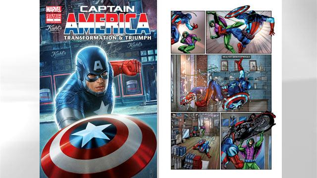 Captain America Comic Pitches Skin Care Products